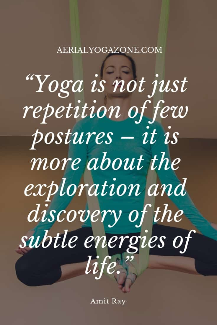 """Yoga is not just repetition of a few postures - it is more about the exploration and discovery of the subtle energies of life"" - Amit Ray"