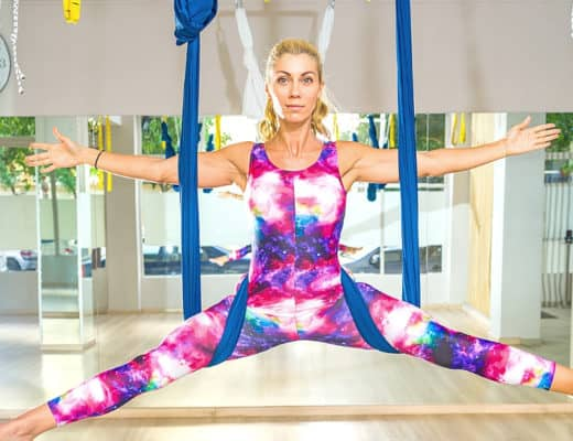 Choose the best aerial yoga class